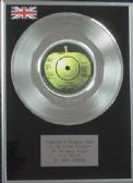 "X  John Lennon - 7"" Platinum Disc - #9 Dream"